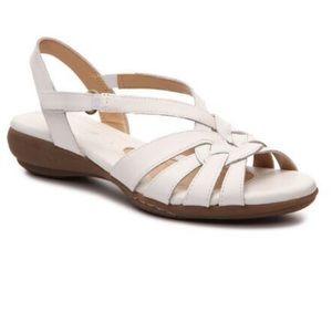 ☁️Naturalizer Convey white sandals (8)☁️